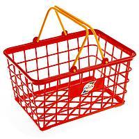 Игрушечная корзина для супермаркета, малая, цвета МИКС