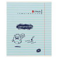 Тетрадь предметная 'Монстры', 40 листов в линейку 'Литература', обложка мелованная бумага, ВД-лак, блок офсет