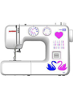 Швейная машинка JANOME-555 12стр.,пет.-п/авт,верт.челнок,оверлок