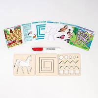 Многоразовые карточки 'Пиши-стирай', мир животных