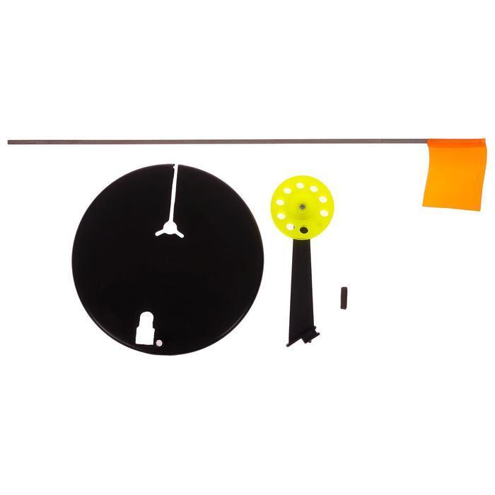 Жерлица с прямой стойкой, цвет чёрный с жёлтой катушкой (комплект из 10 шт.) - фото 2