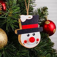Декор с подсветкой 'Снеговик'