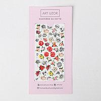 Слайдеры для ногтей Flowers, 10 x 16,5 см