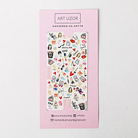 Наклейки для ногтей Beauty, 10 x 16,5 см