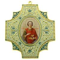 Крестообразная икона 'Целитель Пантелеимон'