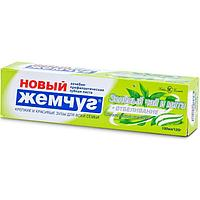 Зубная паста 'Новый жемчуг', отбеливание, зелёный чай и мята, 100 мл