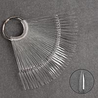 Палитра для лаков на кольце, 40 ногтей, форма стилет, цвет прозрачный