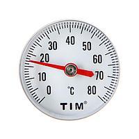 Термометр TIM Y-40T-80, 'малый', 80 С, с гильзой, 1/4'