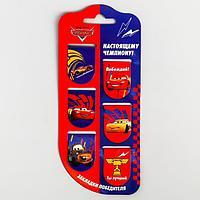 Открытка с магнитными закладками 'Настоящему чемпиону!', Тачки, 6 шт.