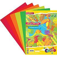 Картон цветной гофрированный, флуоресцентный, А4, 5 листов х 5 цветов, deVENTE, 180 г/м2, в пластиковом пакете