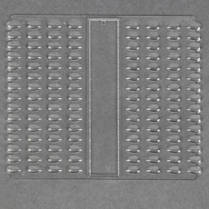 Палитра для лаков, 120 ногтей, 21,5 x 18 см, цвет прозрачный - фото 3