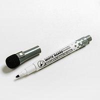 Маркер на водной основе с магнитом, 2х2х13,5 см, цвет чёрный (комплект из 12 шт.)