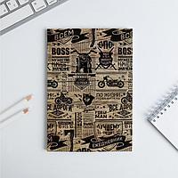 Ежедневник в тонкой обложке 'ПАТТЕРН мужик' А5, 80 листов