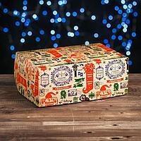 Коробка на 6 капкейков 'С Новым Годом', крафт, 25 х 17 х 10 см (комплект из 5 шт.)