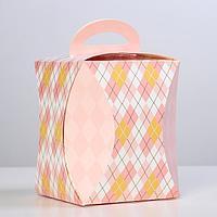 Коробка для кулича 'Ромбики' диаметр 12,4 см