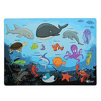 Накладка на стол пластиковая, А4, Обучающая, 339 х 224 мм, 500 мкм, 'Подводный Мир', КН-4