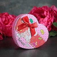 Коробка подарочная в форме сердца 11,5 х 10 х 5 см, МИКС (комплект из 6 шт.)