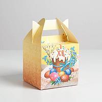 Коробка складная 'Христос Воскресе', 14 x 14 x 14 см 2678933 (комплект из 3 шт.)