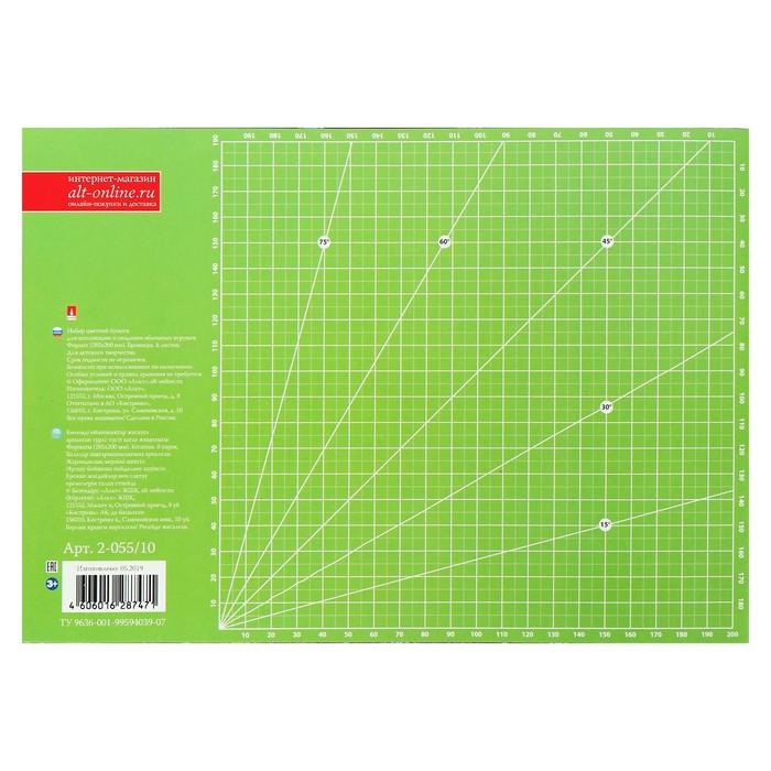 Бумага цветная с орнаментом А4, 8 листов 'Сказочный узор', для декора и творчества (комплект из 3 шт.) - фото 4