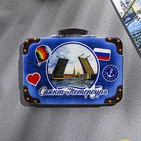 Магнит в форме чемодана 'Санкт-Петербург. Мосты'