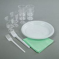 Набор одноразовой посуды 'Праздничный', 6 персон, цвет МИКС