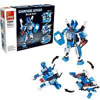 Конструктор 'Робот', 3 варианта сборки, 105 деталей