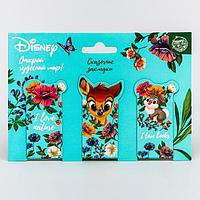 Открытка с магнитными закладками 'Бэмби', Disney, 3 шт.