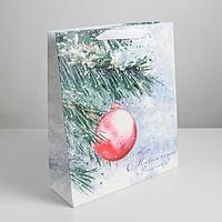 Пакет ламинированный вертикальный 'С Новым годом и Рождеством', M 26 x 30 x 9 см (комплект из 6 шт.)