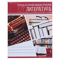 Тетрадь предметная 'Коллаж', 48 листов в линейку 'Литература' со справочным материалом, обложка мелованный