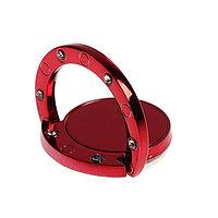Держатель-подставка с кольцом для телефона LuazON, в кольца с камнями, красный