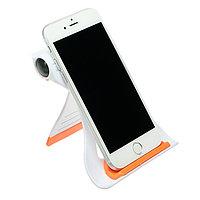 Подставка для телефона LuazON, складная, усиленная, регулируемая высота, оранжевая