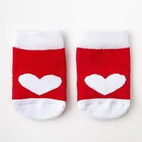 Носки детские махровые Крошка Я 'Сердце' р. 12-14 см
