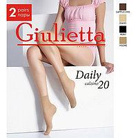 Носки женские Giulietta DAILY 20 (2 пары), цвет чёрный (nero)