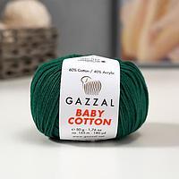 Пряжа 'Baby Cotton' 60 хлопок, 40 полиакрил 165м/50гр (3467) (комплект из 5 шт.)
