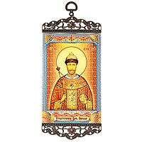 Икона-хоругвь 'Страстотерпец Царь Николай' на подвесе