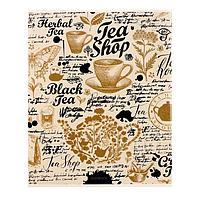 Тетрадь 48 листов в клетку 'Золотой рисунок', обложка мелованный картон, выборочный лак, блёстки, блок офсет