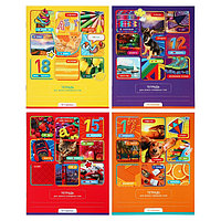 Тетрадь для записи словарных слов, 16 листов в линейку 'Игра в слова', обложка мелованный картон, МИКС