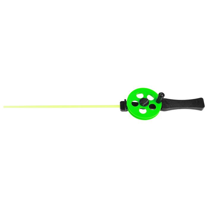 Удочка зимняя 'Профи' УП-3, пластиковая ручка, хлыст поликарбонат, цвет зелёный (комплект из 10 шт.) - фото 1