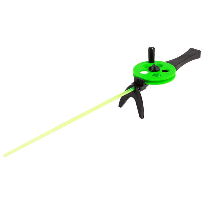 Удочка зимняя 'Профи' УП-3, пластиковая ручка, хлыст поликарбонат, цвет зелёный (комплект из 10 шт.) - фото 2