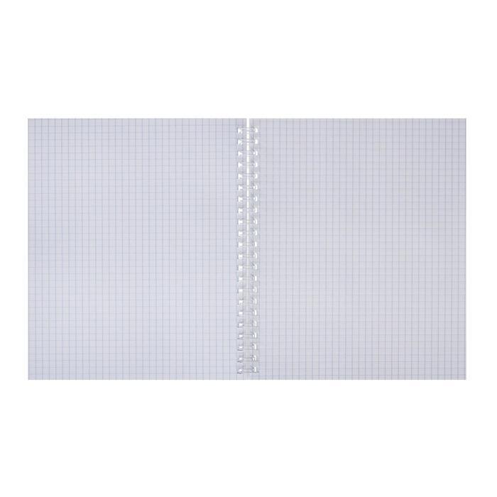 Тетрадь А5+, 80 листов в клетку, на гребне 'Девочка и единорог', обложка мелованный картон, глянцевая - фото 3