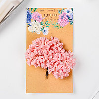 Цветы для декорирования 'Облако' розовый 1 букет12 цветов 8 см