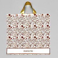 Пакет 'Перфекто Принто', полиэтиленовый с петлевой ручкой, 40 х 37 см, 95 мкм (комплект из 25 шт.)