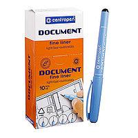 Ручка капиллярная, 0.5 мм, Centropen 'Document' 2631, черная, длина письма 500 м, картонная упаковка (комплект