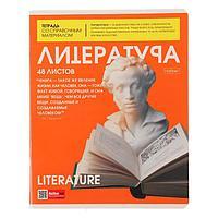 Тетрадь предметная 'The magazine', 48 листов в линейку 'Литература', обложка мелованный картон, глянцевая