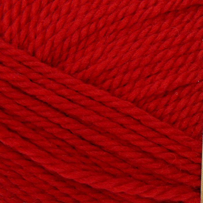 Пряжа 'Мериносовая' 50меринос.шерсть, 50 акрил 200м/100гр(06-Красный) - фото 1