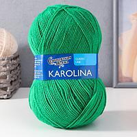 Пряжа Karolina (Каролина) 100 акрил 438м/100гр ярк.зелNEW (54067) (комплект из 2 шт.)