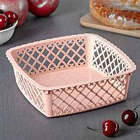 Ваза для хлеба и фруктов Amor, 20x6 см, квадратная, цвет МИКС