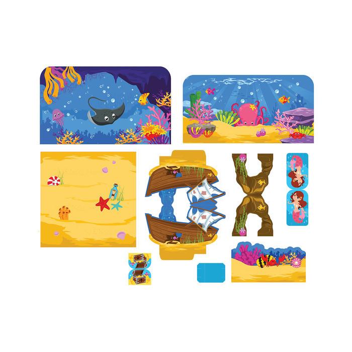 Набор животных с декорациями 'Подводный мир', 10 животных, по методике Монтессори - фото 2