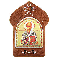 Ажурная икона на подставке 'Святой Николай Чудотворец'