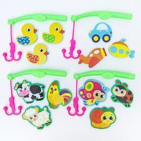 Набор игрушек для ванны + удочка 'Веселая рыбалка', МИКС